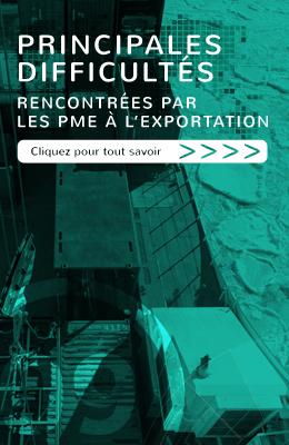 Principales difficultés rencontrées par les PME à l'exportation